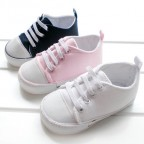 Canvas Sneakers for Baby with Waterproof Rubber Sole