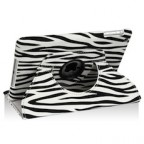 iPad Mini Zebra Design PU Leather Case