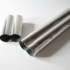Stainless Steel Chrome 2 Finger Cigar Case Smoking Tobacco NEW