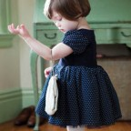 Polka Dot Elegant One-piece Dress For Kids