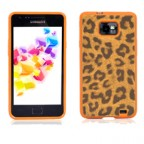 Leopard Pattern Rubber Case for Galaxy S2 i9100