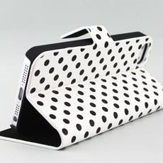 iPhone 5 Polka Dot Book Type Flip Case