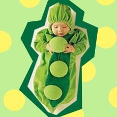 Cutest Pea-shaped Baby Sleeping Bag