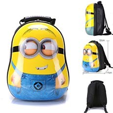 Cute Despicable Me Miniions Figure Baby Backpack Shoulder School Bag Kids Gift