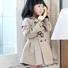 Korean Fashion Style Girls Double-breasted Khaki Jacket