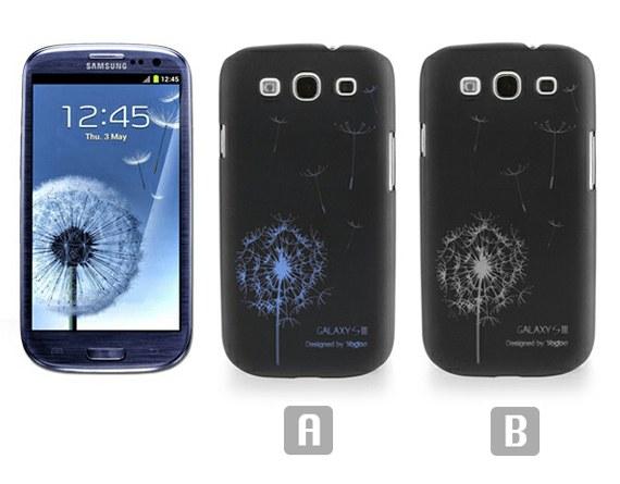 Iconic Dandelion Print Black Case for Samsung Galaxy S3 i9300