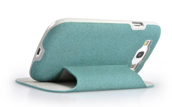Standable Side-Flip Leather Case for Samsung Galaxy S3 i9300