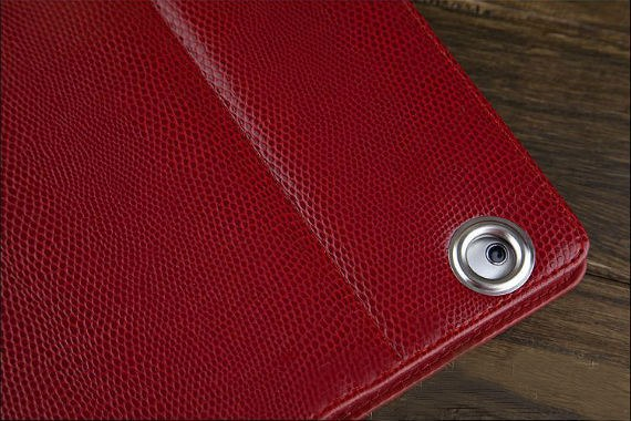 iPad 2 Classic Snake Textured Leather Metallic Trim Folio Case
