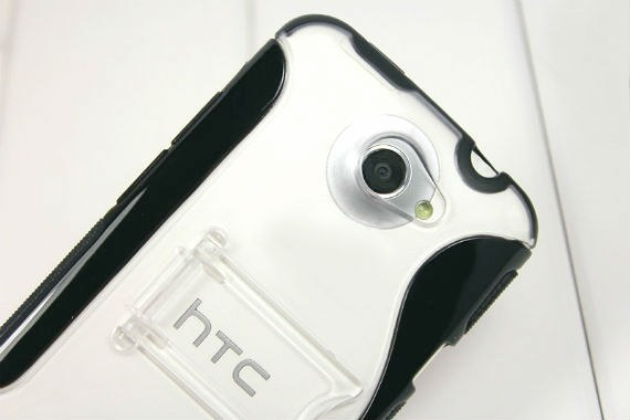 HTC One X Powder Coated / Glossy Hybrid Armour with Built-in Stand