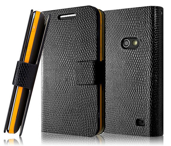 Samsung Galaxy Beam Snakeskin Textured Leather Case