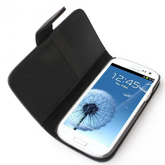 Samsung Galaxy S3 i9300 Leather Folio Case with Card and Money Slots