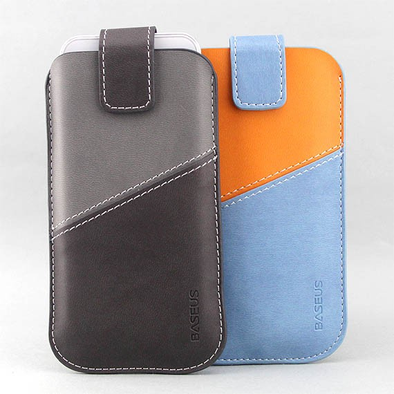 iPhone 5 Posh Leather Sleeve Case with Built-in Smart Strap
