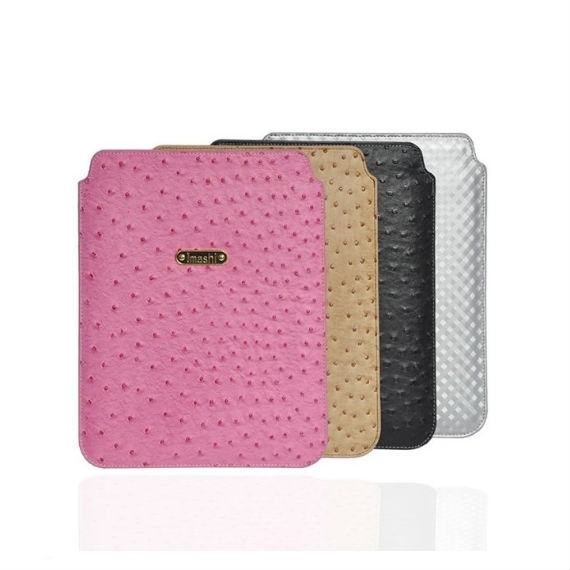 Slim Ostrich Leather iPad Air Protection Sleeve Bag