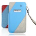 Denim Leather Sleeve Case for Samsung Galaxy S3 i9300
