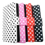 Samsung Galaxy S2 Polka Dot Folio Leather Case