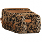 Leopard's Spots Canvas Fabric 13-13.3 Inch Laptop / Notebook Computer / MacBook / MacBook Pro / MacBook Air Sleeve Case Bag Cover