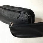 NEW Black Leather Tobacco Smoking Pipe Pouch Pocket SM012