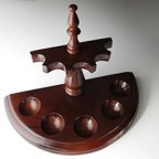 Vintage Estate Pipe Stand Holder Wood Hold 5 Pipes