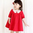 Lace Collar Little Red Dress