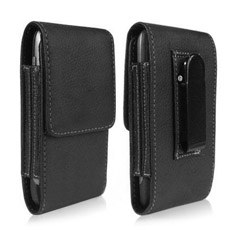 Samsung Galaxy S3 i9300 Black Leather Sleeve Case with Belt Clip