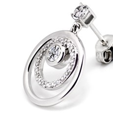Signity Gemstone Galaxy Glittering Earrings